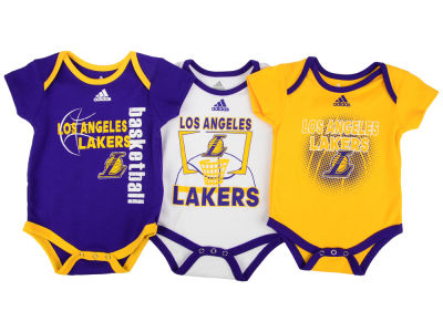 Los Angeles Lakers NBA Newborn 3 Point Play Bodysuit Set