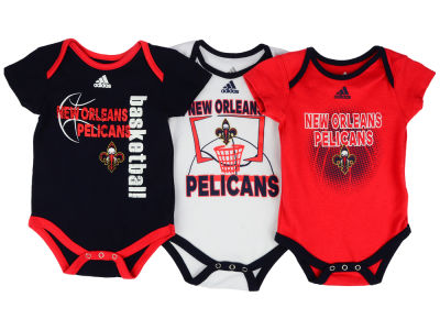 New Orleans Pelicans NBA Newborn 3 Point Play Bodysuit Set