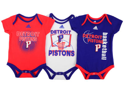 Detroit Pistons NBA Newborn 3 Point Play Bodysuit Set