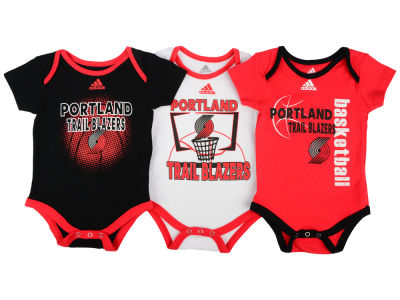 Portland Trail Blazers NBA Newborn 3 Point Play Bodysuit Set