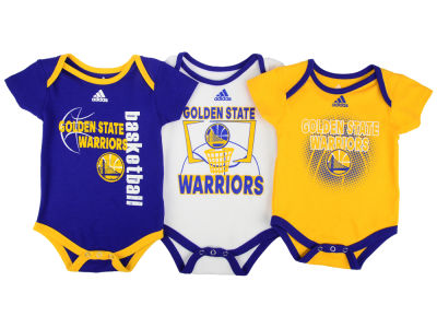 Golden State Warriors NBA Newborn 3 Point Play Bodysuit Set