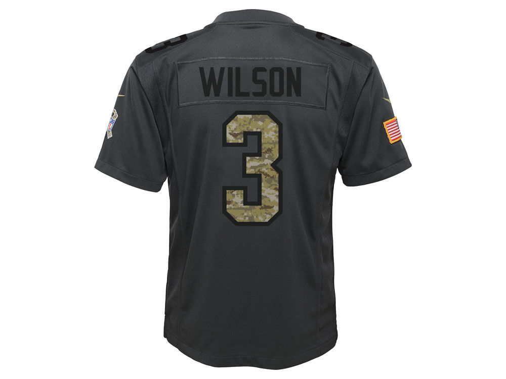 best service 8639d 27808 Seattle Seahawks Russell Wilson Nike NFL Youth Salute to Service Jersey