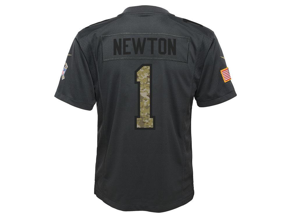 Carolina Panthers Cam Newton Nike NFL Youth Salute to Service Jersey ... d3f528405