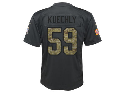 Carolina Panthers Luke Kuechly Nike NFL Youth Salute to Service Jersey