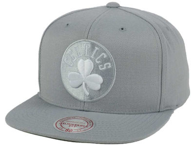 Boston Celtics Mitchell and Ness NBA Team Gray White Snapback Cap