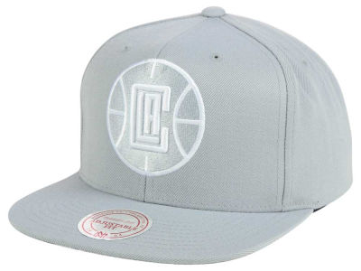 Los Angeles Clippers Mitchell and Ness NBA Team Gray White Snapback Cap