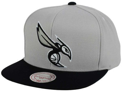 Charlotte Hornets Mitchell and Ness NBA Team Gray White Snapback Cap
