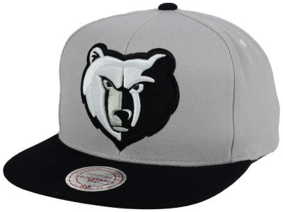 Memphis Grizzlies Mitchell and Ness NBA Team Gray White Snapback Cap