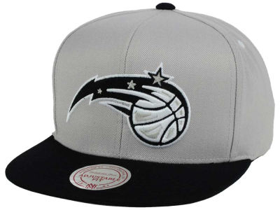 Orlando Magic Mitchell and Ness NBA Team Gray White Snapback Cap