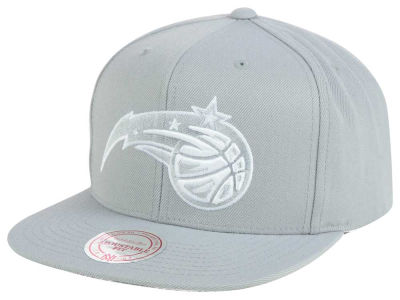 Orlando Magic Mitchell & Ness NBA Team Gray White Snapback Cap