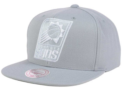 Phoenix Suns Mitchell and Ness NBA Team Gray White Snapback Cap