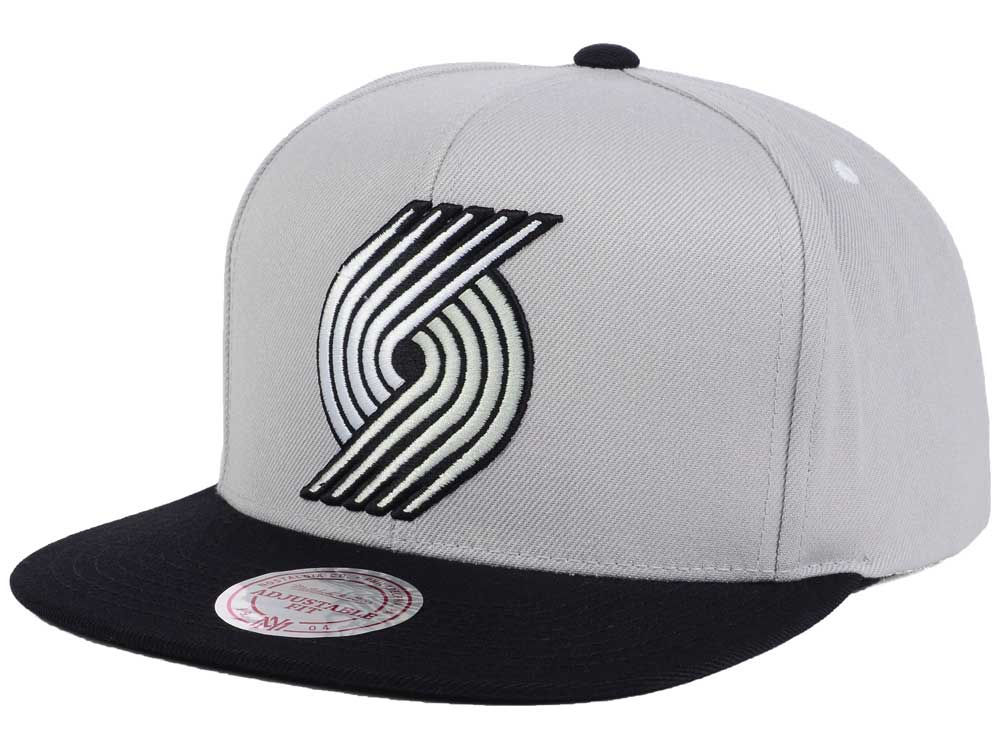 ccb361b235198d ... sale portland trail blazers mitchell ness nba team gray white snapback  cap 9d830 51472
