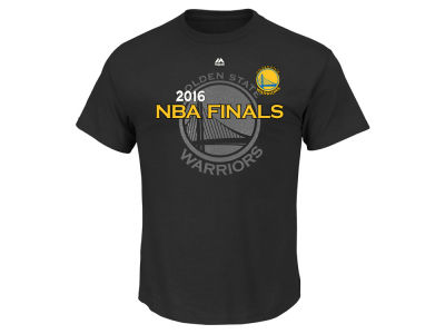 Golden State Warriors Majestic NBA Men's Reflective Finals Wordmark T-Shirt