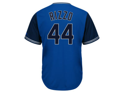 Chicago Cubs Anthony Rizzo MLB Men's Blue Steel Cool Base Jersey