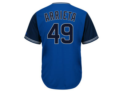Chicago Cubs Jake Arrieta MLB Men's Blue Steel Cool Base Jersey