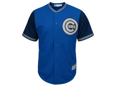 Chicago Cubs MLB Men's Blue Steel Cool Base Jersey