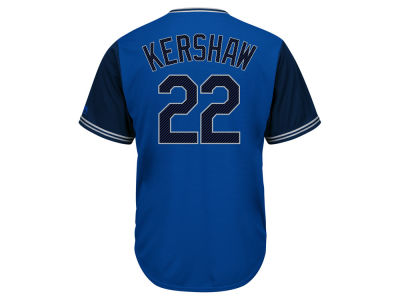Los Angeles Dodgers Clayton Kershaw MLB Men's Blue Steel Cool Base Jersey