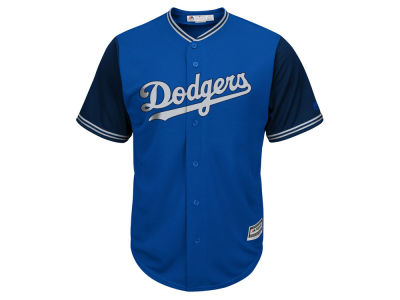 Los Angeles Dodgers MLB Men's Blue Steel Cool Base Jersey