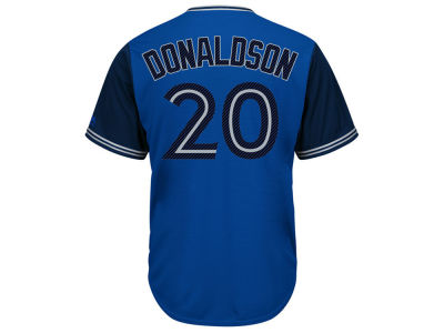 Toronto Blue Jays Josh Donaldson MLB Men's Blue Steel Cool Base Jersey