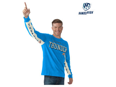 Oklahoma City Thunder GIII NBA Men's Hands High Front Four Long Sleeve T-Shirt
