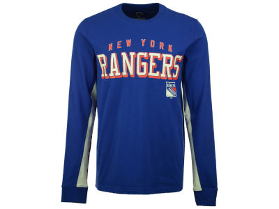 New York Rangers GIII NHL Men's Hands High Front Four Long Sleeve T-Shirt
