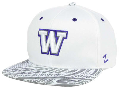 Washington Huskies NCAA Lahaina White Snapback Cap