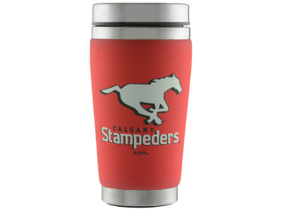 Calgary Stampeders 16oz Stainless Steel Travel Tumbler