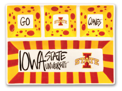 Iowa State Cyclones 4-Section Platter