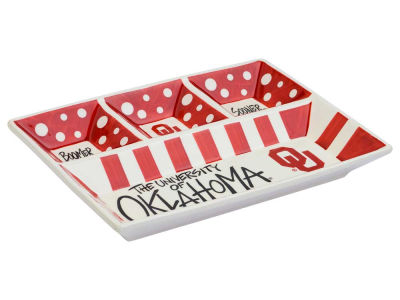 Oklahoma Sooners 4-Section Platter