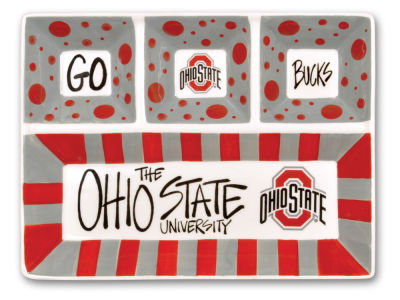 Ohio State Buckeyes 4-Section Platter