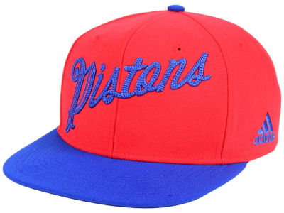 Detroit Pistons adidas NBA Seasons Greeting Snapback Cap