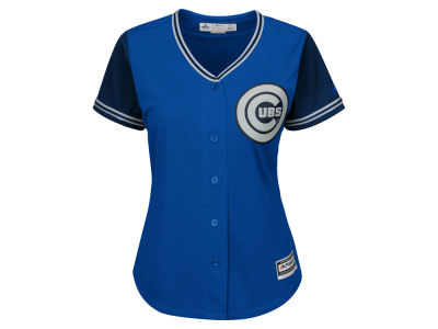 Chicago Cubs MLB Women's Blue Steel Jersey