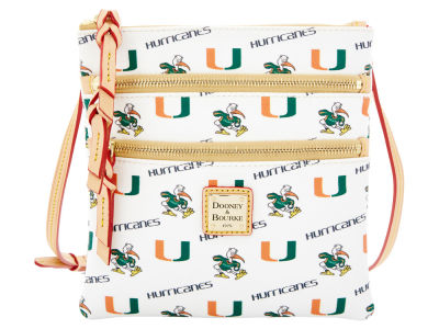 Miami Hurricanes Dooney & Bourke Triple Zip Crossbody Bag