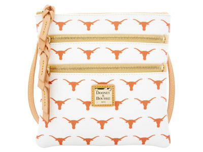 Texas Longhorns Dooney & Bourke Triple Zip Crossbody Bag