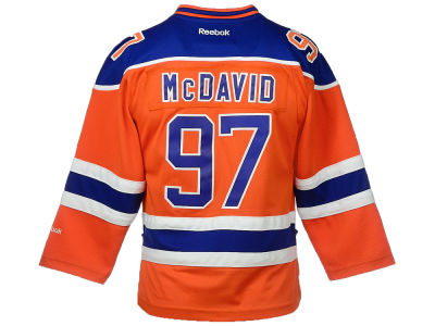 Edmonton Oilers Connor McDavid Reebok NHL CN Youth Premier Player Jersey
