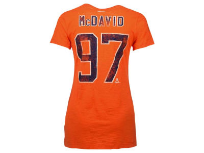 Edmonton Oilers Connor McDavid Reebok NHL Women's Slub Player T-Shirt