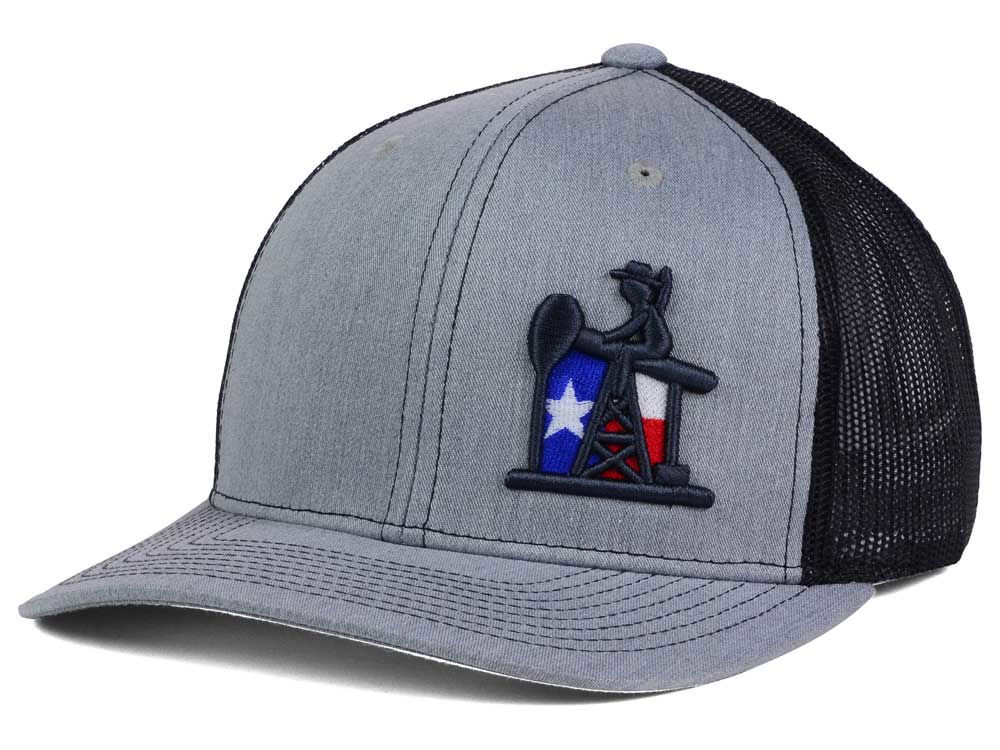 Oil Field Texas Flag Oil Trucker Hat  45d5c2d4bbf