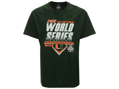 Miami Hurricanes NCAA Men's College World Series Diamond Team T-Shirt