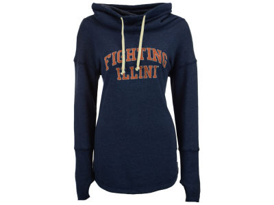 Illinois Fighting Illini Retro Brand NCAA Women's Funnel Neck Sweatshirt