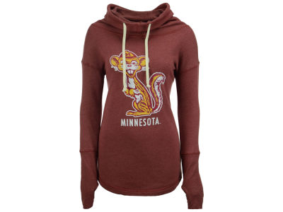 Minnesota Golden Gophers Retro Brand NCAA Women's Funnel Neck Sweatshirt
