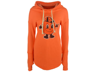 Syracuse Orange Retro Brand NCAA Women's Funnel Neck Sweatshirt