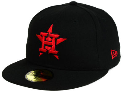 Houston Astros New Era MLB Black on Red 59FIFTY Cap