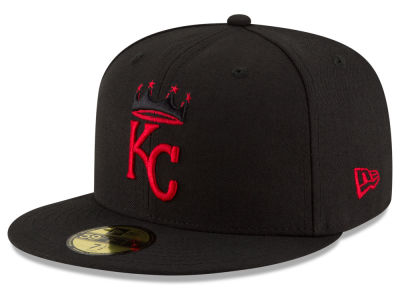 Kansas City Royals New Era MLB Black on Red 59FIFTY Cap