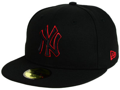 New York Yankees New Era MLB Black on Red 59FIFTY Cap