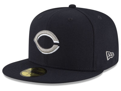 Cincinnati Reds New Era MLB Navy Gray White 59FIFTY Cap