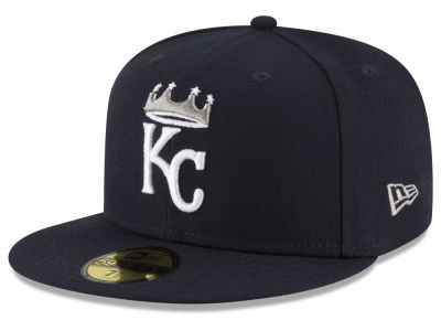 Kansas City Royals New Era MLB Navy Gray White 59FIFTY Cap