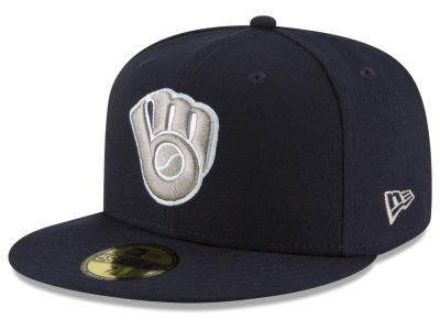Milwaukee Brewers New Era MLB Navy Gray White 59FIFTY Cap