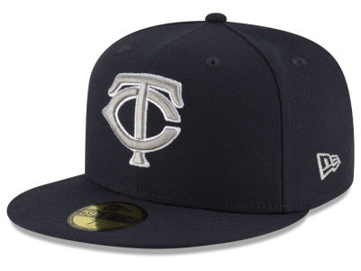 Minnesota Twins New Era MLB Navy Gray White 59FIFTY Cap