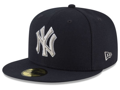 New York Yankees New Era MLB Navy Gray White 59FIFTY Cap