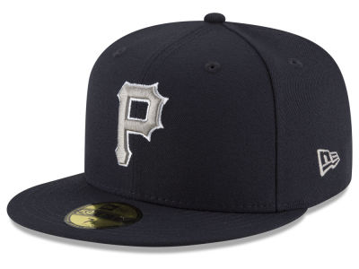 Pittsburgh Pirates New Era MLB Navy Gray White 59FIFTY Cap